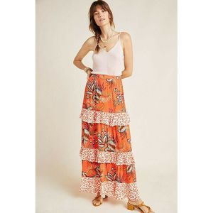 New Anthropologie Farm Rio Amabella Tiered Skirt